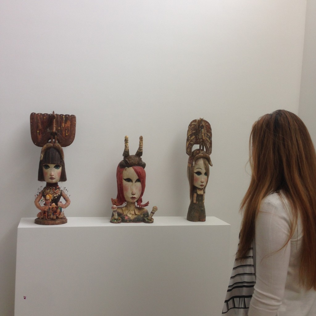 Visiting Art Galleries with my Colombian Art Manager