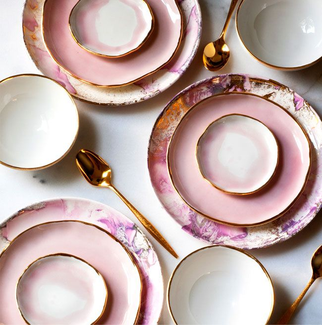 GORGEOUS pink china