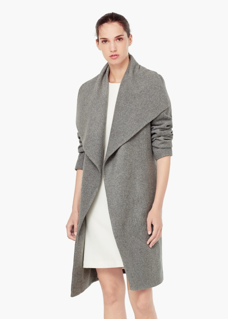 grey coat mango fall 2015