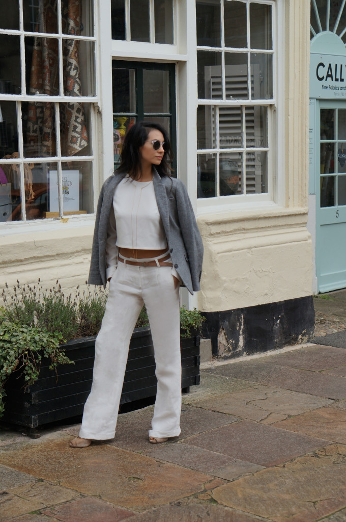 BLOGGER MINIMAL WHITE OUTFIT FALL2
