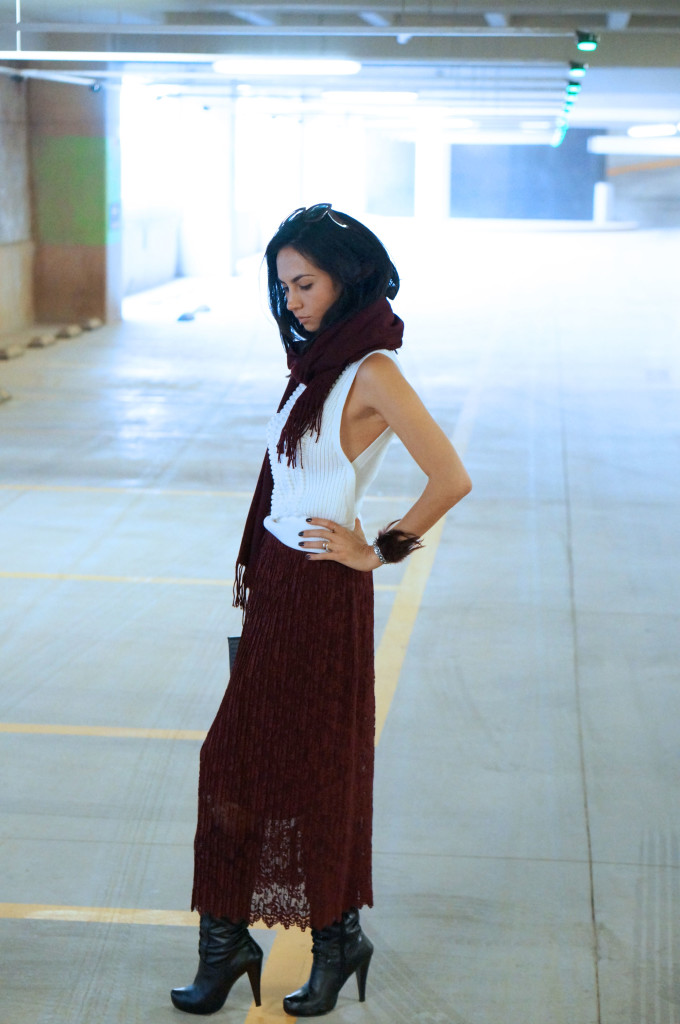 How to wear a lace skirt this fall – ideas in a fashion blog