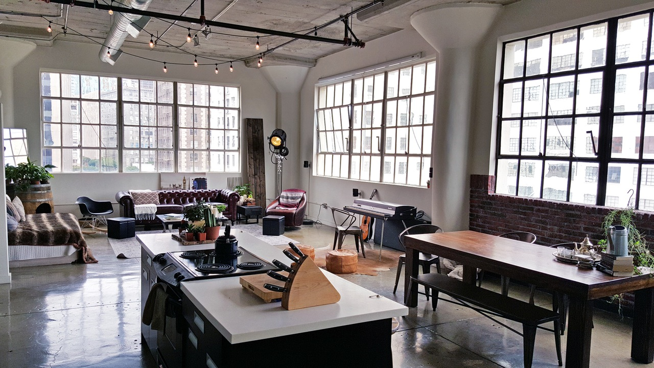 Industrial loft lifestyle blog for women - Small space for lease style ...