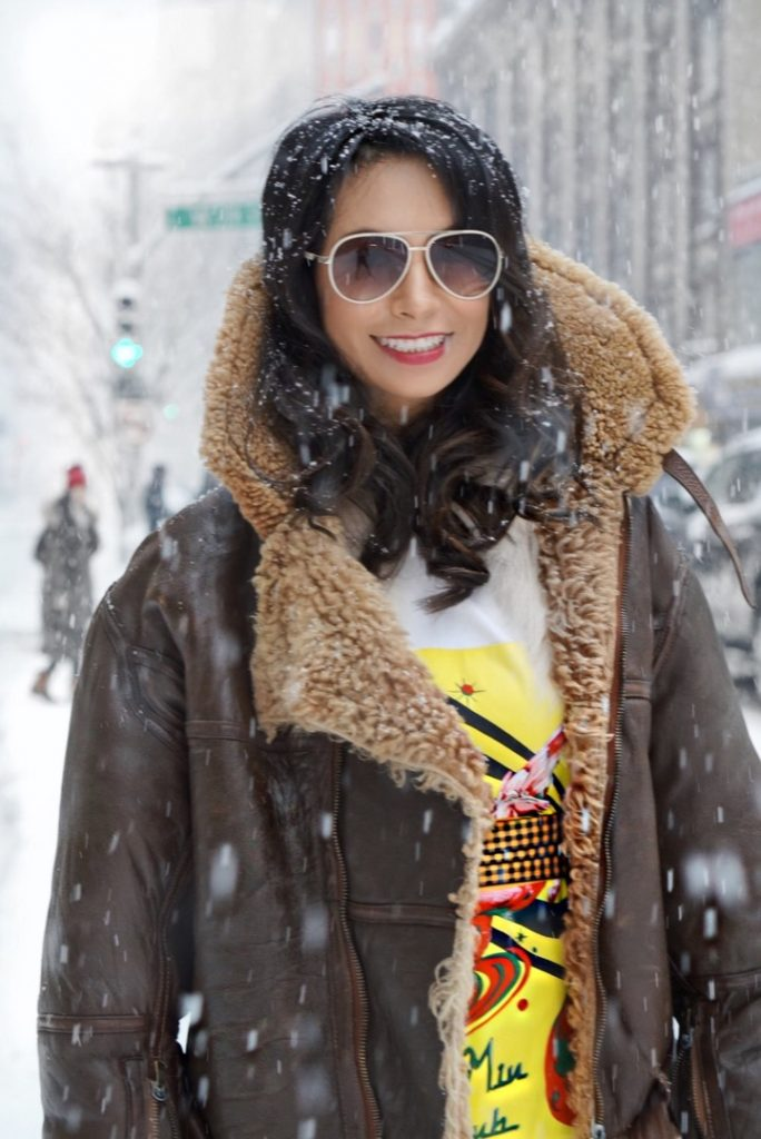 NYFW outfit winter